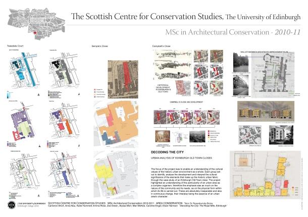 UoE, Scottish Centre for Conservation Studies (2010-2011)