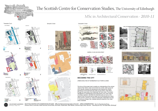 UoE, Scottish Centre for Conservation Studies (2010-2011)
